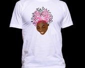 My Afro Speaks - Signature t-shirt (w/ pink hair)