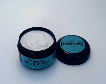 SPF face cream! All natural facial lotion with sunscreen! Moisturizing sun protection. Reduce blemishes. Essential oils. 1/2 or 1 oz