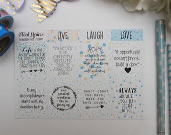 Life Quotes Planner stickers, ECLP, Happy Planner