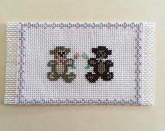 """Dollhouse Miniature Teddy Bear Rug 1"""" (JL)"""