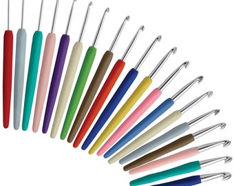 KnitPro waves aluminium crochet hooks - sizes 4.0mm to 8.0mm