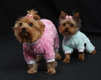 Furry Dog Pajamas, Dog Clothing, Dog Wedding Dress, Pet Clothing, Dog Attire, Pet Dress