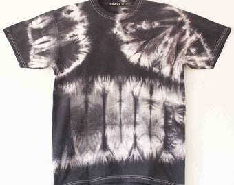 Men's tie dyed grey/charcoal t shirt M