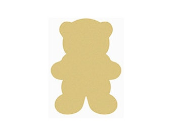 TEDDY BEAR Unfinished Wooden Craft Shape, Do-It-Yourself