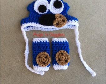 Cookie Monster Set-silly Dog hats-pugs-dog legwarmers-dog costume