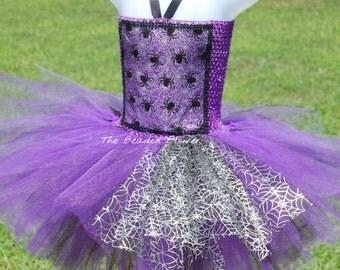 Halloween spider tutu dress  spider web halloween tutu costume