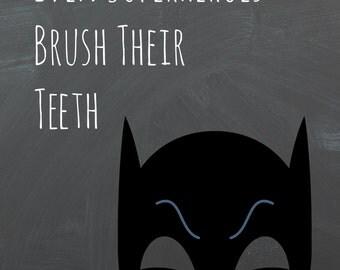 Batman Inspired Bathroom Chalkboard Printable 8x10