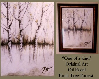 BirchTrees,TBirch ree Art,Nature Art,Cabin Decor,Logde Decor,Rustic decor,Tree lovers,Nature lovers gift