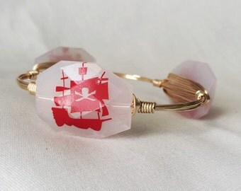 Red and White Pirate Ship Bangle
