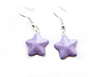 Glossy Star Earrings