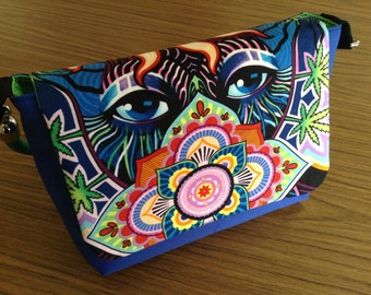 Psychedelic Messenger Shoulder Bag