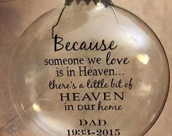 Personalized Heaven Ornament.
