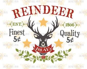 Reindeer Treats svg Christmas svg Holiday svg SVG files Cut files Silhouette files Cricut files Silhouette svg Cricut svg eps dxf
