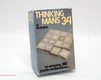 Thinking Mans 34 Puzzle Game from Skor-Mor COMPLETE with New Parts