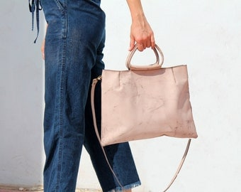 Small leather bag, Pink leather handbag, Handbag purse, Pink handbag, Crossbody handbag, leather handbag, Everyday handbag, Gift for her