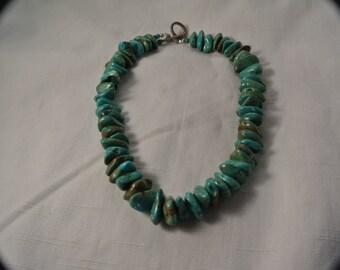 Large chunk turquoise necklace.