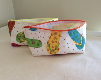 Cosmetic Pouch Flip Flop Print