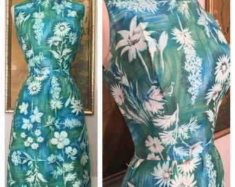 1960s Day Dress by Don Loper Boutique -- Fresh Floral Print