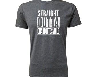 Straight Outta Charlottesville (White) - NLA Vintage Black