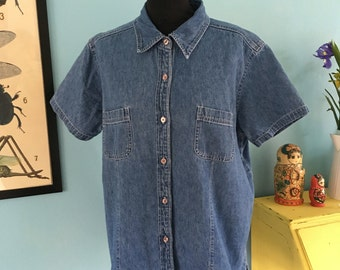 Oversized Vintage 90s Denim Shirt