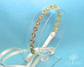 Gold Headband Wedding - Gold Bridal Headband - Wedding Headpiece - Bridal Headpiece - Photo Prop - Gold Hair Accessory - Wedding Accessory