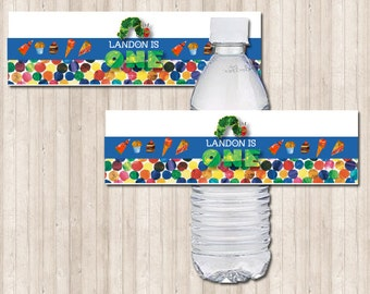 The Hungry Caterpillar Water Bottle Labels