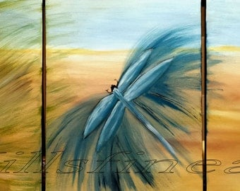 Dragonfly wall art Dragonfly Home Decor Wall Decor Modern Dragonfly Original Acrylic Art Contemporary Painting Made To Oder by jillsfineart