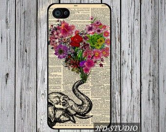 Floral heart and Elephant iPod Touch 6 case iPod Touch 5 case iPod Touch 4 case