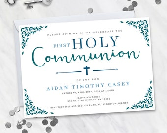 First Holy Communion Invitation (Digital file)