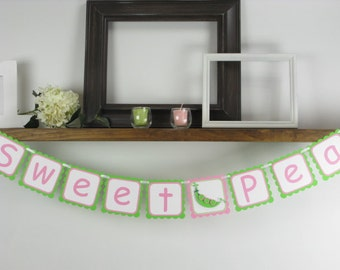 Sweet Pea Banner - Baby Shower Banner - Baby Banner - Sweet Pea Decor