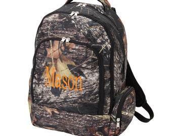 Backpack, Monogrammed backpack, Camo back pack