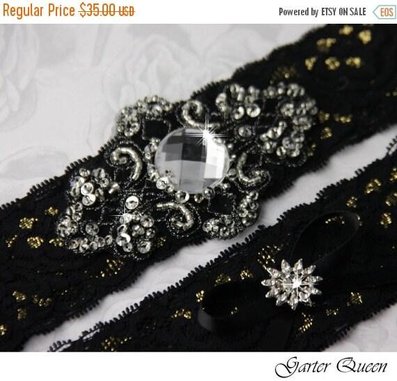 20 OFF Wedding Garter Set Gothic Bridal Garter By GarterQueen