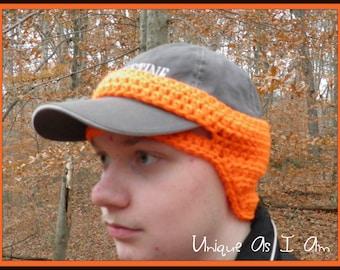 Crochet Baseball Cap Earwarmer *PATTERN ONLY*