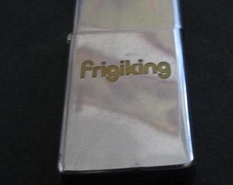 Vintage Zippo lighter advertising Frigiking Coolers - Estate find!