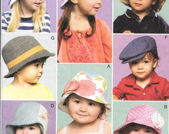 McCalls 6762, Toddlers hat sewing pattern, Hat pattern, New uncut pattern