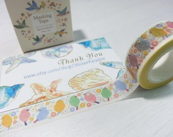 Bird Washi / Masking Tape - 15mm x 10M