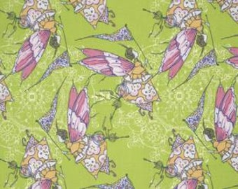 Tina Givens Feather Flock 'Princess Feather' in Apple Cotton Fabric