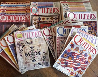 Quilter's Newsletter Magazine - The Magazine for Quilt Lovers - issues from 1991, 2000, 2002-2004 - 35 in total, offered by MtnGlen
