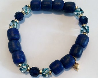 Enhance Creativity with this Powerful, Sacred Energy Infused Lapais Lazuli Crystal Bracelet by Crystal Vibrations Jewelry