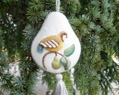 Raised Embroidery Kit - PARTRIDGE IN A PEAR ornament