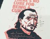 "Game of Thrones ""No Cure"" Bronn Linocut Print"