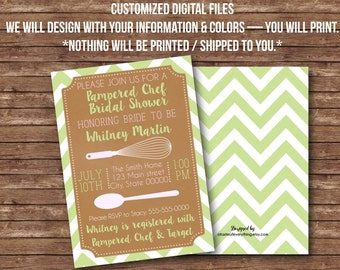 DIGITAL FILES  Pampered chef kitchen Bridal shower baby shower party event customized invitation invite