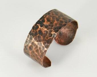 Hand Forged Copper Cuff Bracelet, Copper Bracelet, Artisan Cuff Bracelet, Bronze Copper Cuff, Copper Bangle, Copper Jewelry, 7th Anniversary