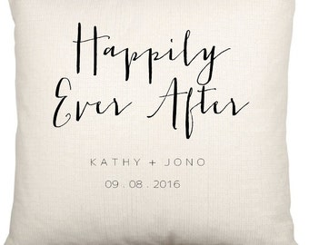 Couples Anniversary Happily Ever After Cushion Cover Case