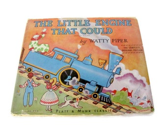 Vintage Children's Book, 1950's Little Engine That Could, Watty Piper, Children's Classic Book