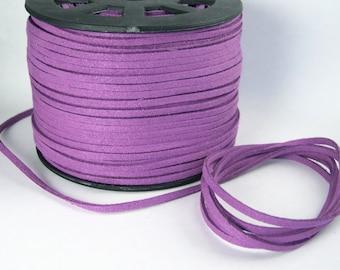 Purple Faux Suede Cord 20 Feet USA Seller
