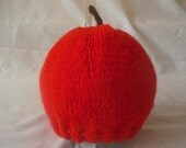 Hand Knitted Cherry Beanie Hat (Baby Toddler and Child Sizes)
