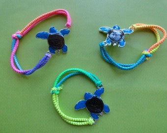 Seaturtle mood  color changing rope bracelets