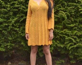 Sunflower Girl | PDF crochet dress pattern