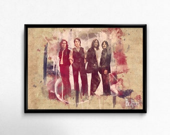 Beatles Wall Art Collage Print Poster